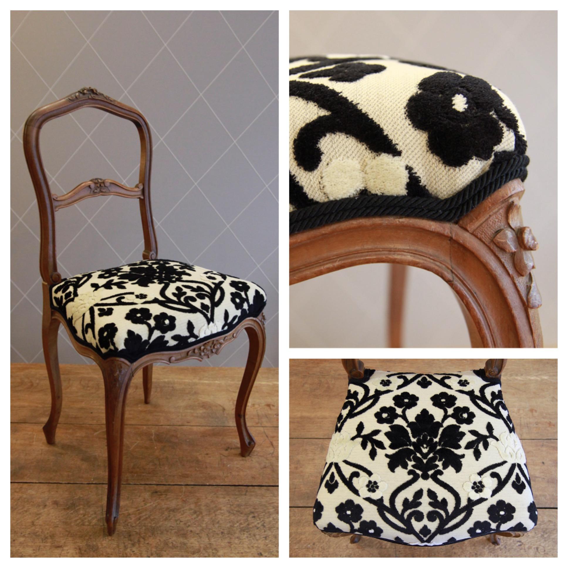 Galette de chaise noir et blanc images - Chaise noir et blanc ...