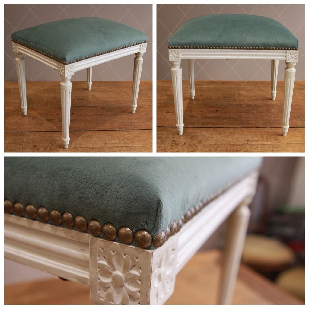 banquette style louis xvi en velours jade atelier md2atelier md2. Black Bedroom Furniture Sets. Home Design Ideas