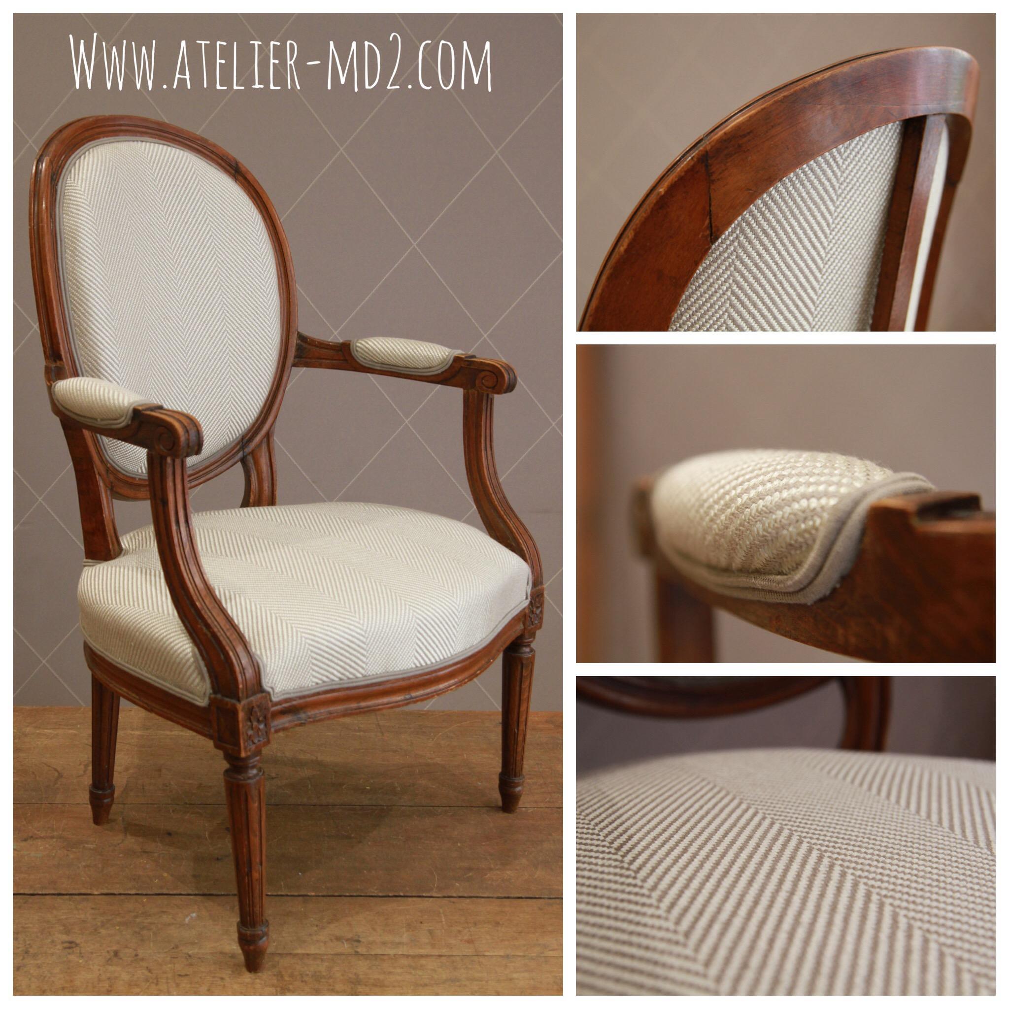 Chevrons pour fauteuils m daillon louis xvi atelier - Renover chaise bois ...