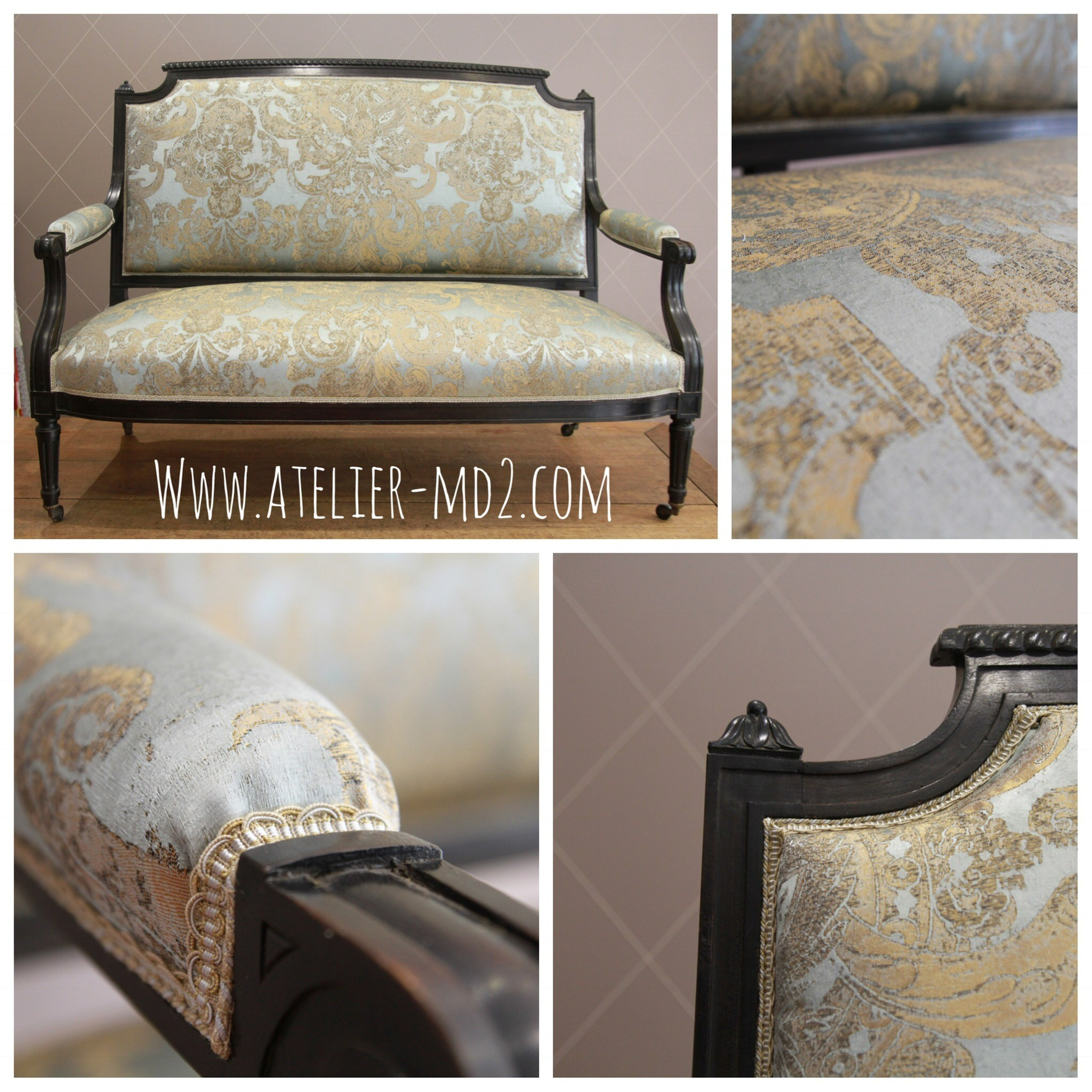 Banquette Napoleon III - Atelier MD2Atelier MD2 on